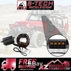 S-tech 4 Commutateur Système Avec Le Centre De Relais Ambre Double Led 97-06 Jeep Wrangler Tj / Lj
