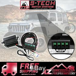 S-tech 4 Sélecteur De Système Avec Le Centre Relais Vert Double Led 09-18 Jeep Wrangler Jk