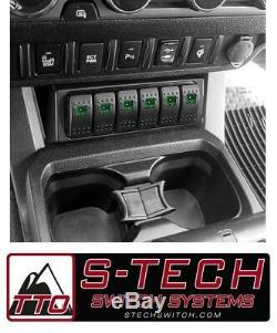 S-tech 6 Commutateur Système Avec Le Centre Relais Vert Double Led 05-15 Toyota Tacoma