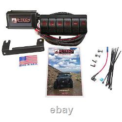 S-tech 6 Switch System Avec Relay Center Red Dual Led Pour 2010-2013 Toyota 4runner