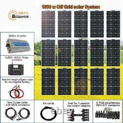 Solar Kit Off Grid Système De Contrôleur De Module Flexible Inverter 3000w Pour Bateau Nouveau