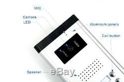 Système D'interphone Visuel Visuel D'interphone Audio De Téléphone Visuel De Porte D'appartement 5 Unités