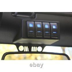 Système D'interrupteur S-tech 4 Avec Relay Center Blue Dual Led 09-18 Jeep Wrangler Jk