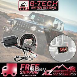 Système De Commutation S-tech 4 Avec Kit Centre De Relais Rouge Pour Jeep Wrangler Jl 2018