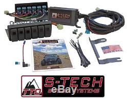Système De Commutation S-tech 6 Avec Relais Central Rouge Double Led 09-18 Jeep Wrangler Jk