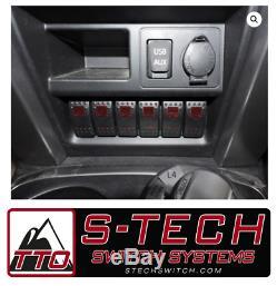 Système De Commutation S-tech 6 Avec Relais Central Rouge Double Led 2014-2018 Toyota 4runner