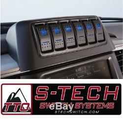 Système De Commutation S-tech 6 Avec Relais Centre Blue Dual Led 2013-2018 Ram Truck