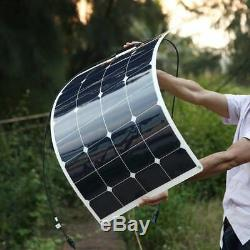 Système De Kit De Panneau Solaire Flexible 200w 18v Voiture De Contrôleur Rv De Module 20a Du Module 100w