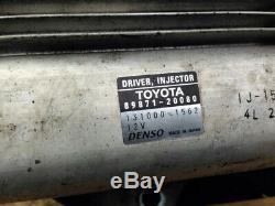 Toyota Rav4 Avensis 2.2 Diesel Pilote Injector Ecu 89871-20080 131000-1562 Oem