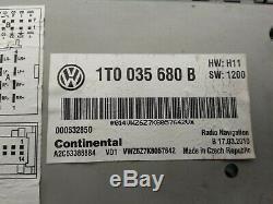 Volkswagen Oem CC Vw Rns 510 Écran Navigation Gps Unite Centrale 2018 Carte Non Codée