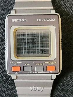 Vtg Seiko Computer Watch Information System Uc-2000 Wrist Module 2200 Contrôleur